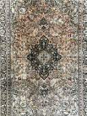 Vintage Handmade Oriental Silk Rug