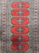 Vintage Handmade Caucasian Fringed Wool Rug