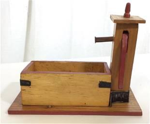 Arts Crafts Pine Fire water Pump Figural