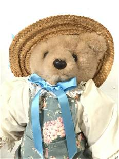Bearly People Collectible Plush Bear In Overalls