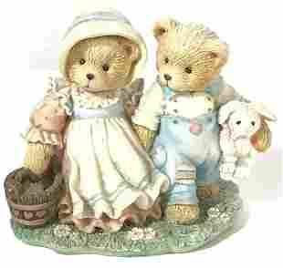 Cherished Teddies Jack Jill Porcelain Bear