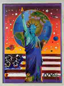 Signed Acrylic On Canvas After PETER MAX