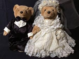 BEARLY PEOPLE Bride Groom Plush Bear Set