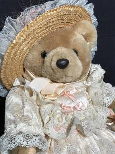 Collectible Bearly People Plush Bear Victoria