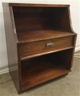 Vintage Wooden Side Table W Drawer