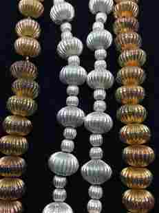 Pair Mid Century Beaded Necklaces