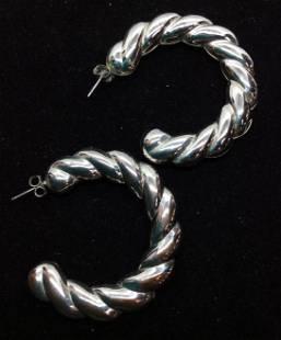 Braided 34 Hoop Fashion Earrings