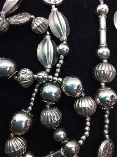 Lightweight 46 in Silver Tn Fashion Necklace