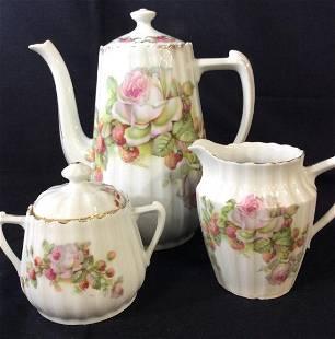 3 Pc Porcelain Tea Serving Set