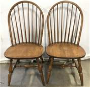 Set 4 L HITCHCOCK Spindle Back Dining Chairs