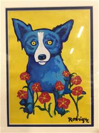 Signed Gouache on Paper AFTER George Rodrigue