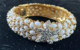 KJL Starfish And faux coral Stone Bracelet