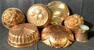 Group Lot Vintage Copper Cookware