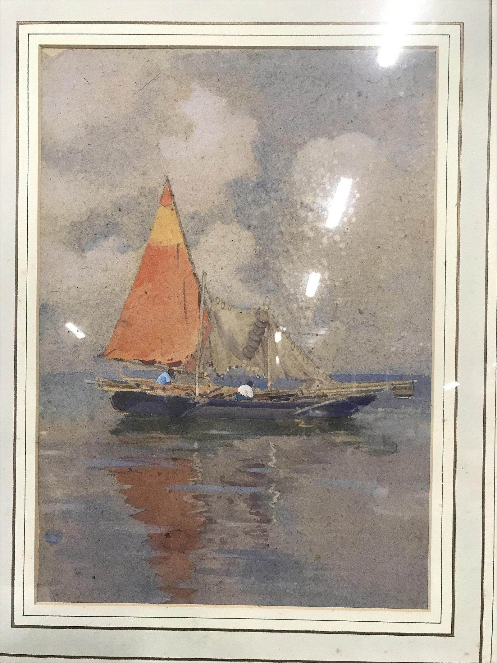 Antique Vittore Zanetti-Zilla Watercolor