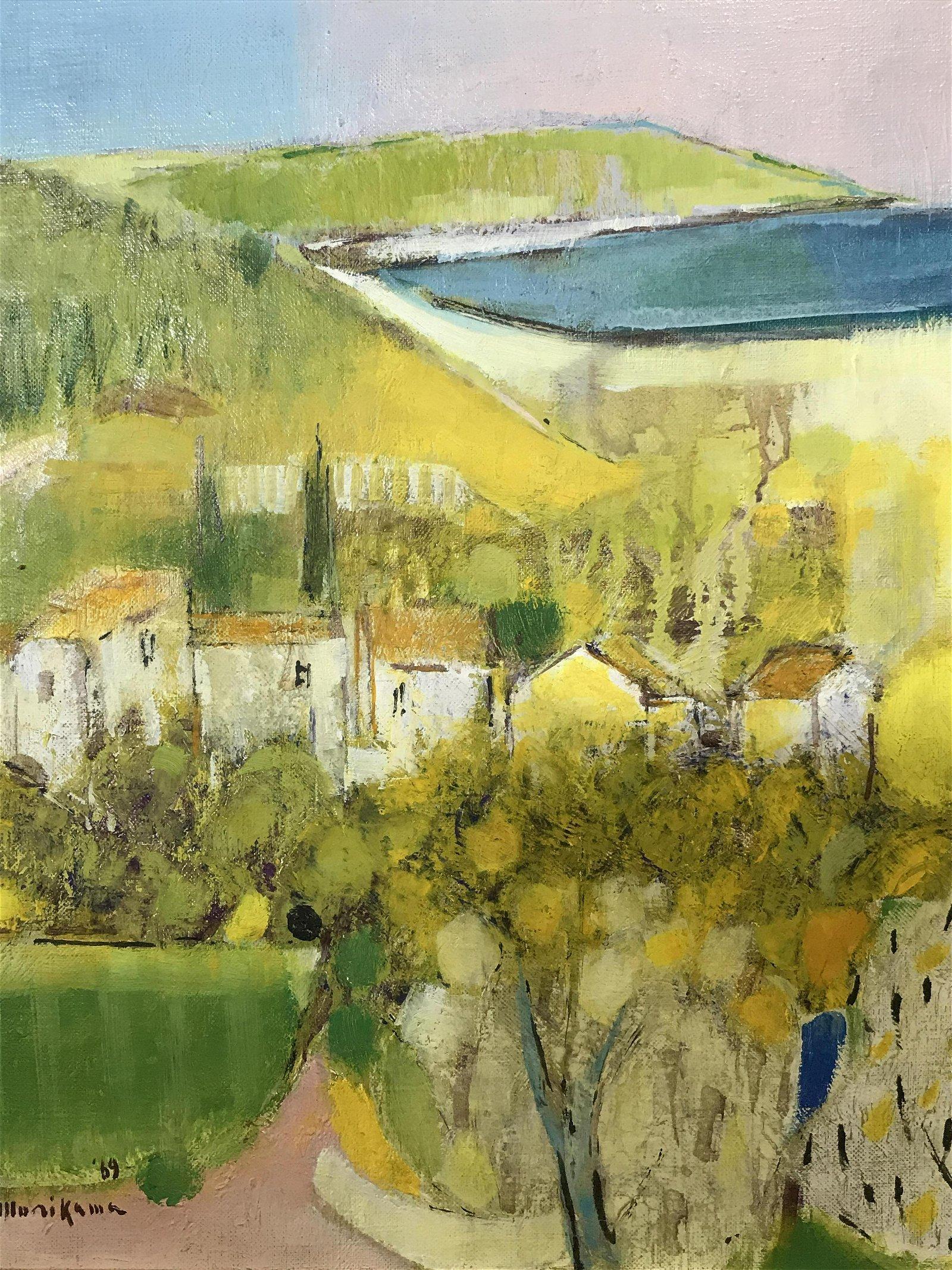 Signed Oil on Canvas Sai Morikawa