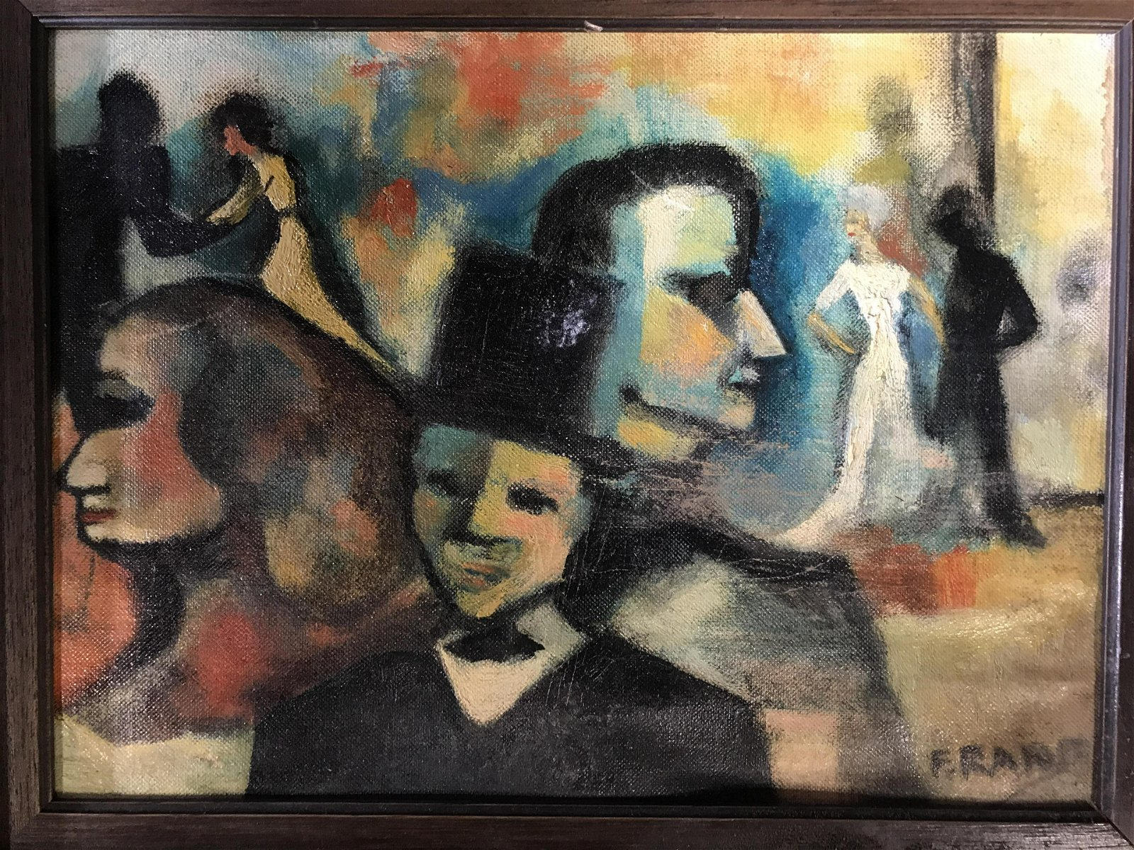 F Rand Signed German Expressionist Oil on Canvas