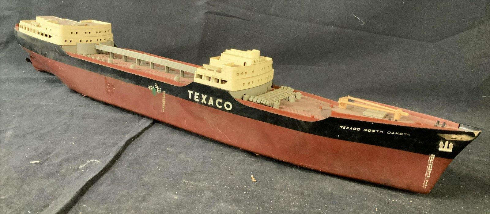 Vintage TEXACO Oil Barrel Ship Replica