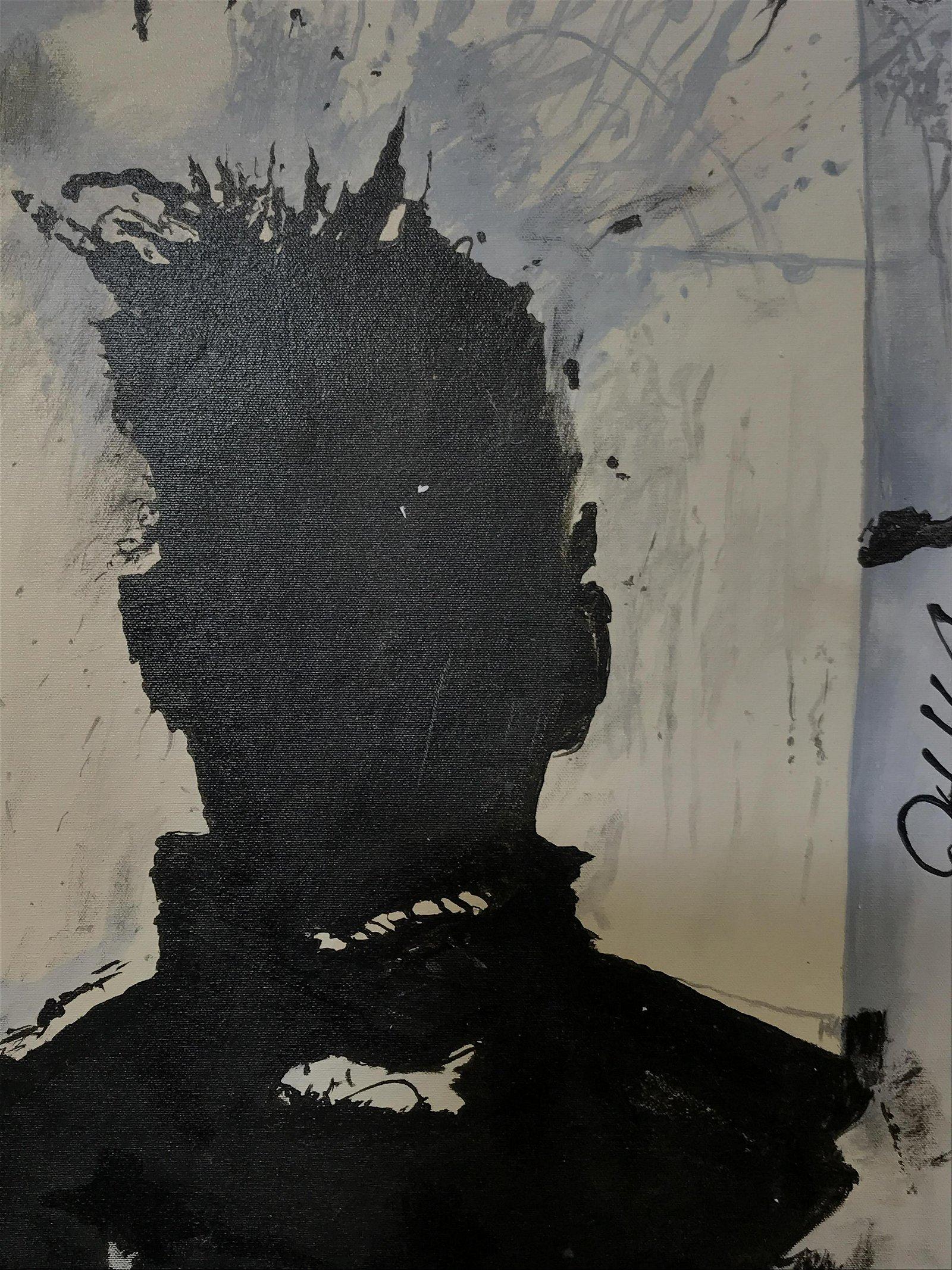 Signed Oil on Canvas AFTER Richard Hambleton