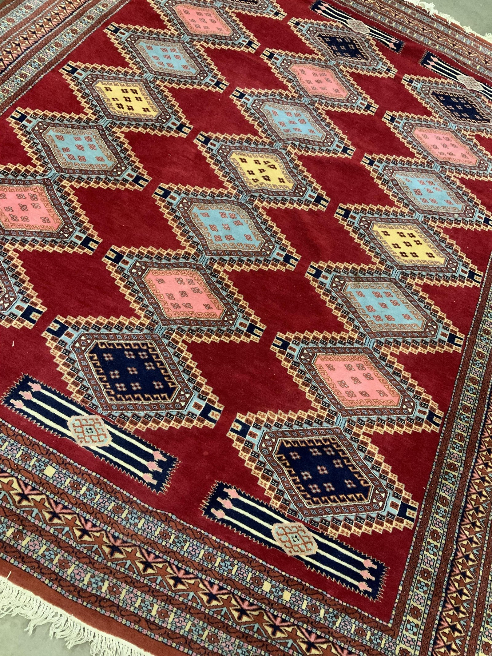 Room Size Hand made Bokhara Wool Carpet