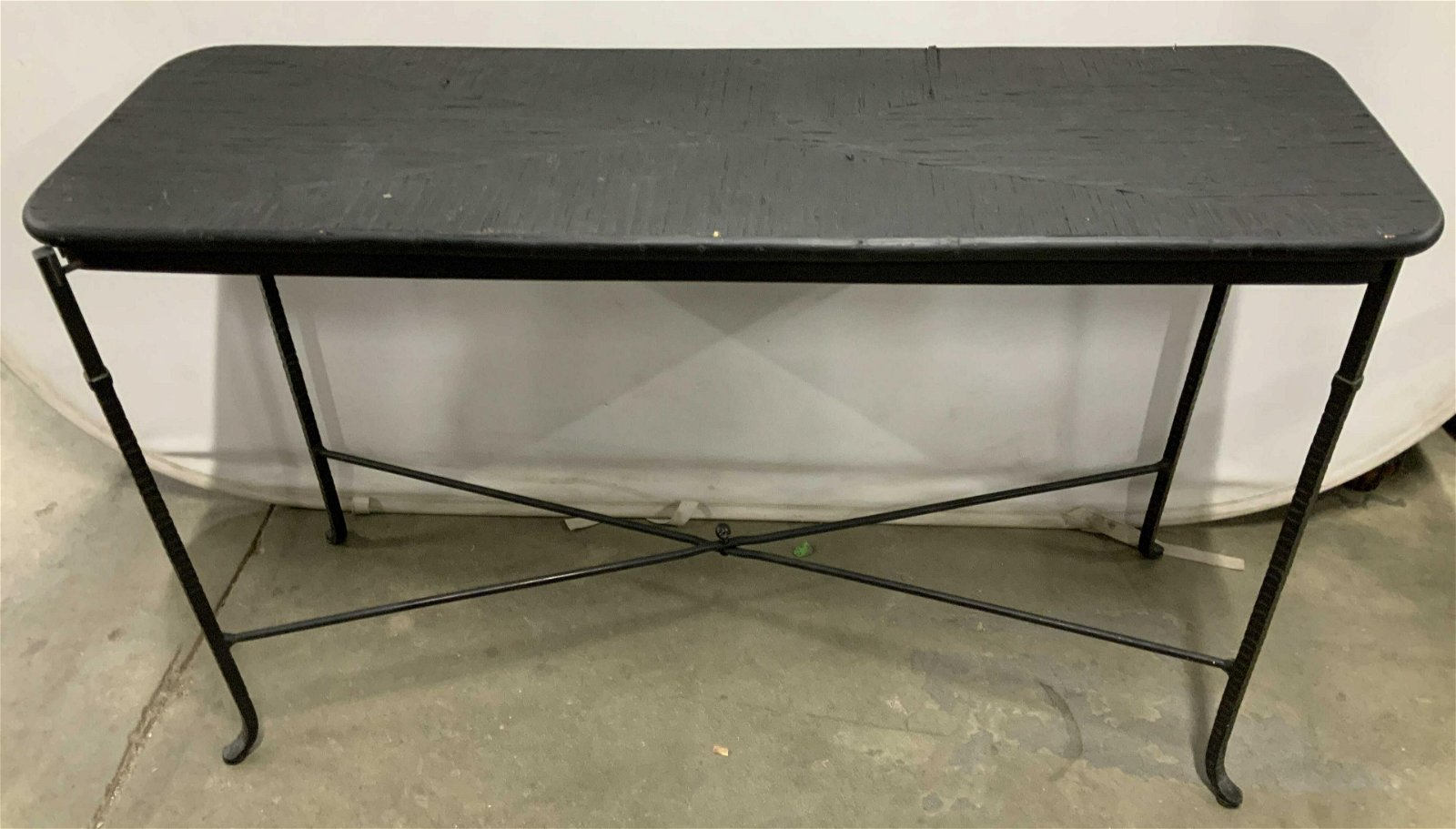 Contemporary Wood and Metal Console Table