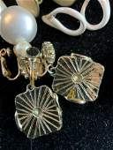 Group Lot Vintage White Toned Jewelry