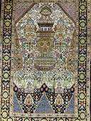 Antique Silk Oriental Carpet