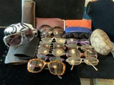 Group Lot Vintage Designer Eye Glasses w Cases