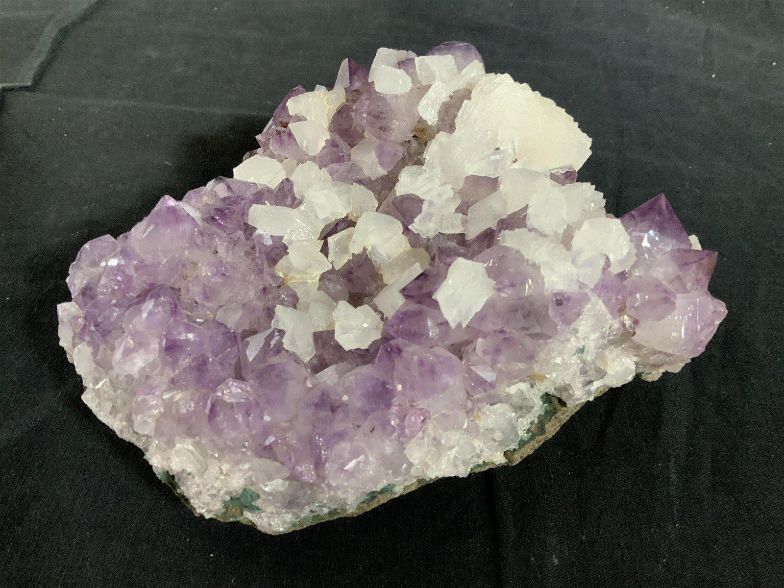 Collectible Purple White Rock Crystal Geode