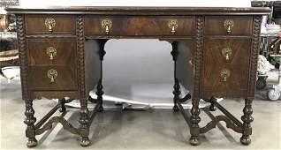 Antique GRAND RAPIDS Carved Wooden Desk