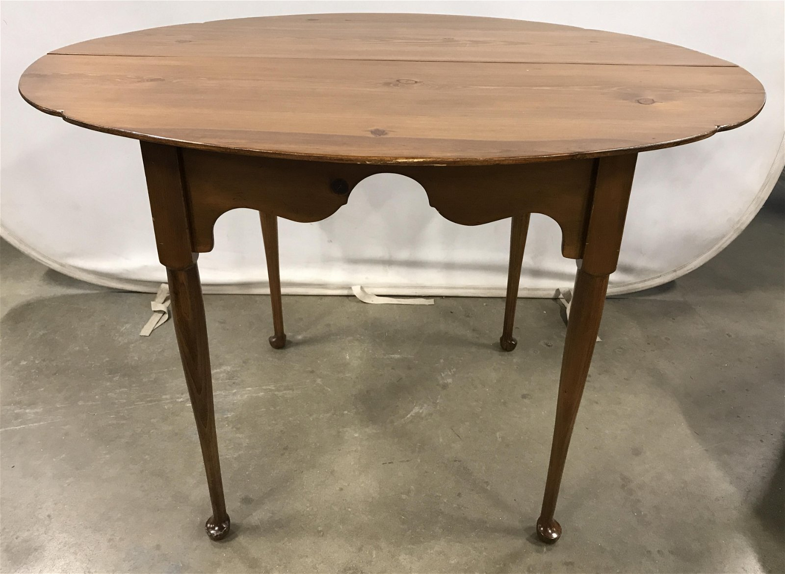 Vintage Carved Wooden Dining Table W Extension