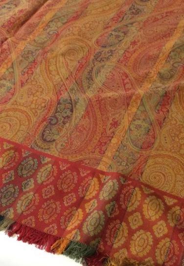 MULBERRY Paisley Fabric Textile, England 2 pcs