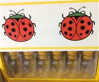 Vintage Ladybug Wall Spice Rack, Org Package