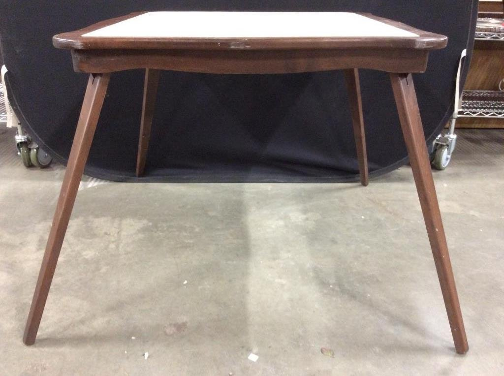 Vintage Folding Leg Game Table