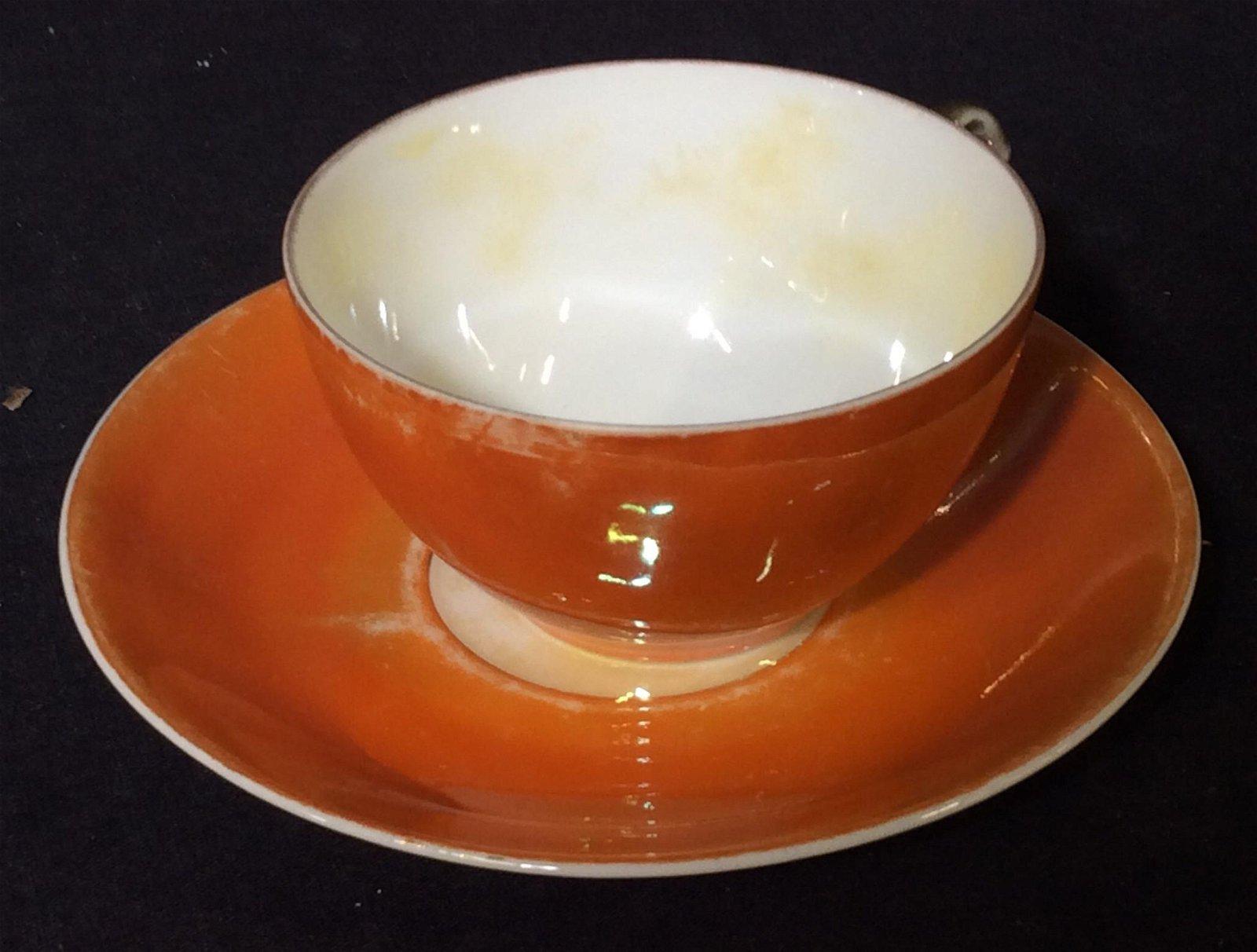 Bavarian RW Fine Porcelain Deco Orange Tableware