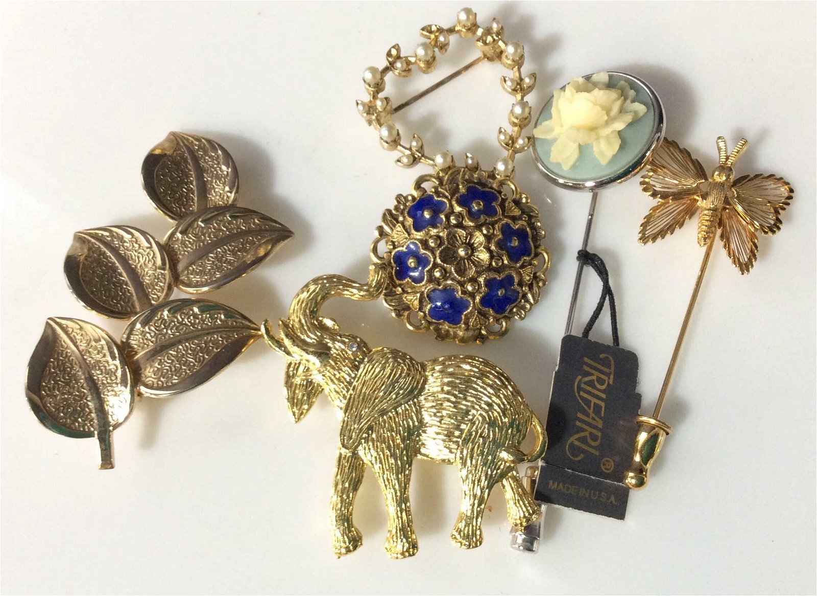 Large Lot Vintage Designer, Earrings Pins Watches