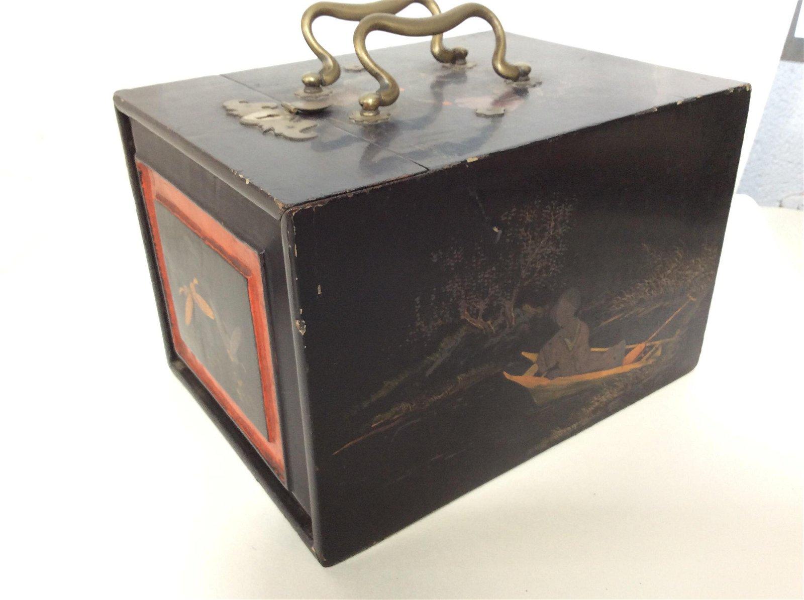 Vintage Asian Nesting Vanity Box, Jewelry