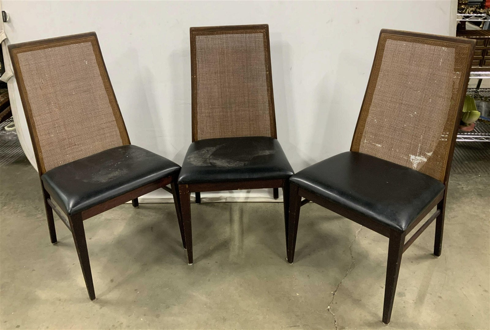 Signed Set 3 Mid Century Modern Wood Side Chairs