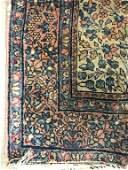 Vintage Handmade Floral Detailed Oriental Rug