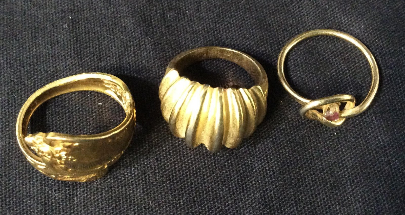 Lot 3 Gold Toned Fashion Rings