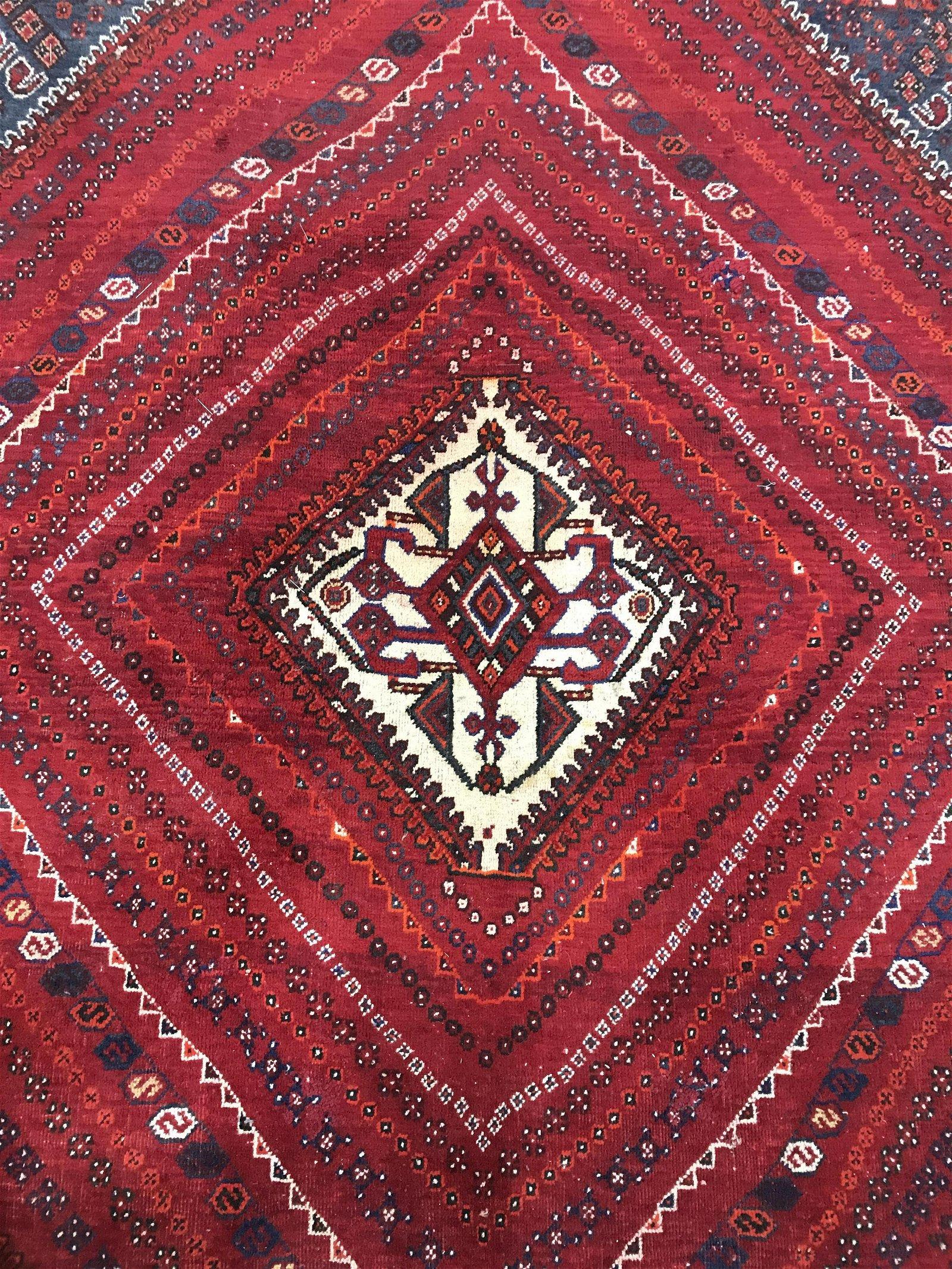 Vintage Handmade Turkish Wool Rug