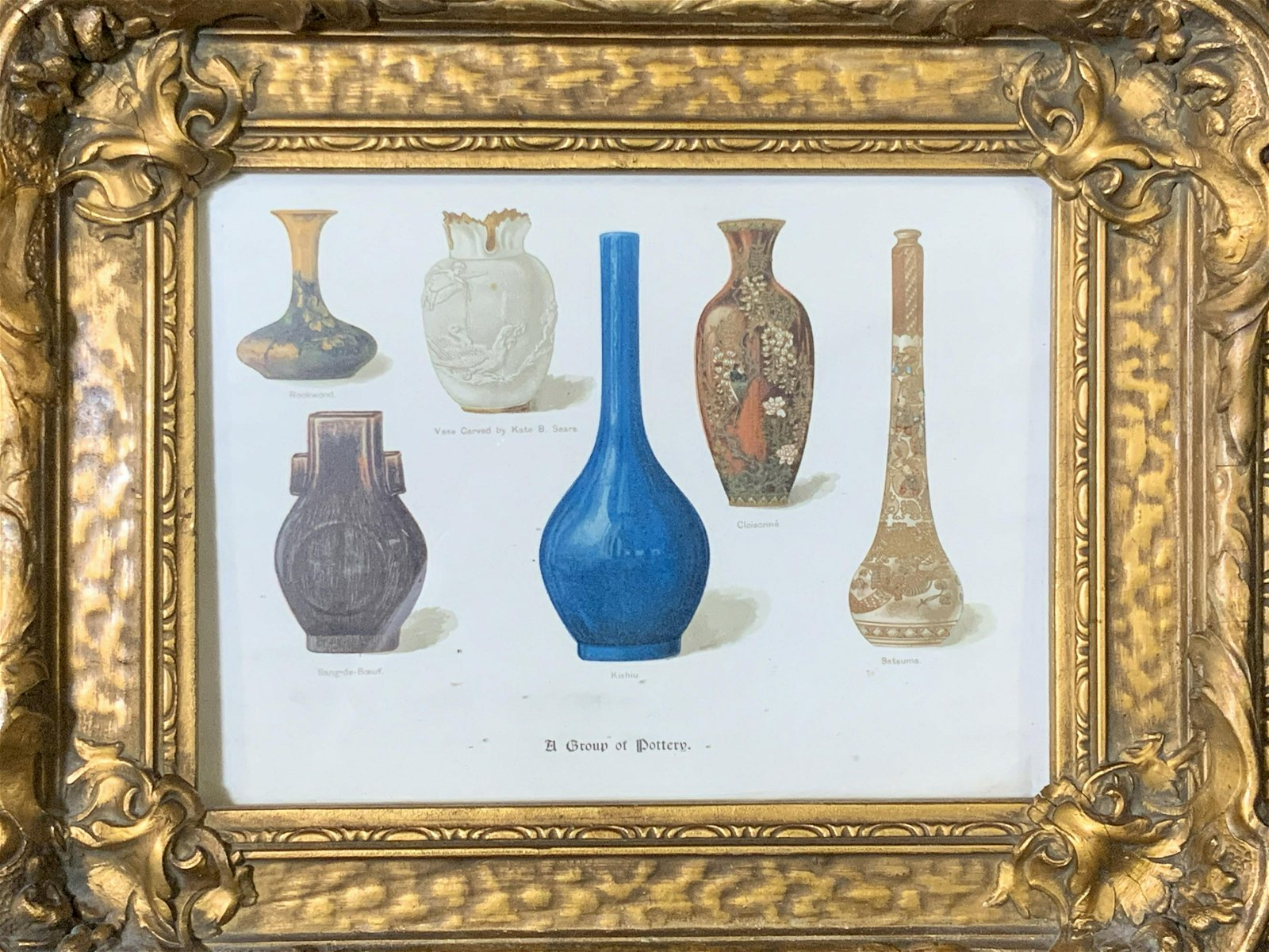 Antique Lithograph of Pottery, Artwork