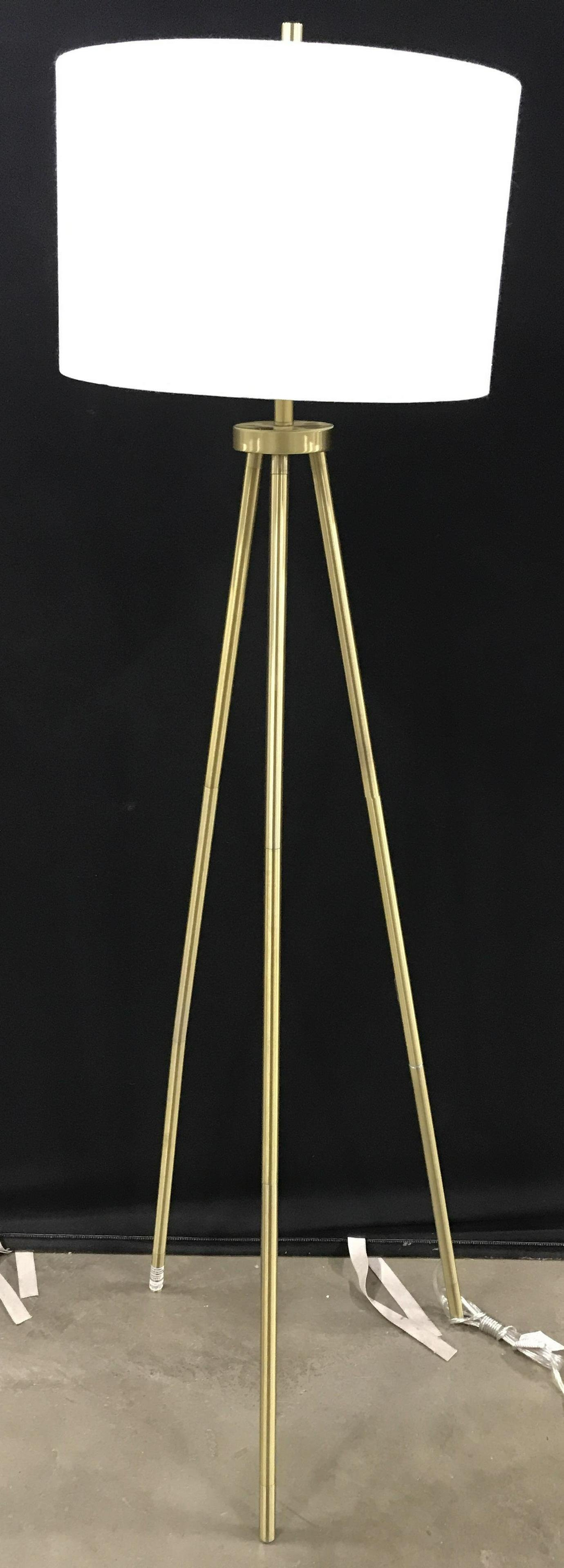 Tripod Brass Tnd Floor Lamp