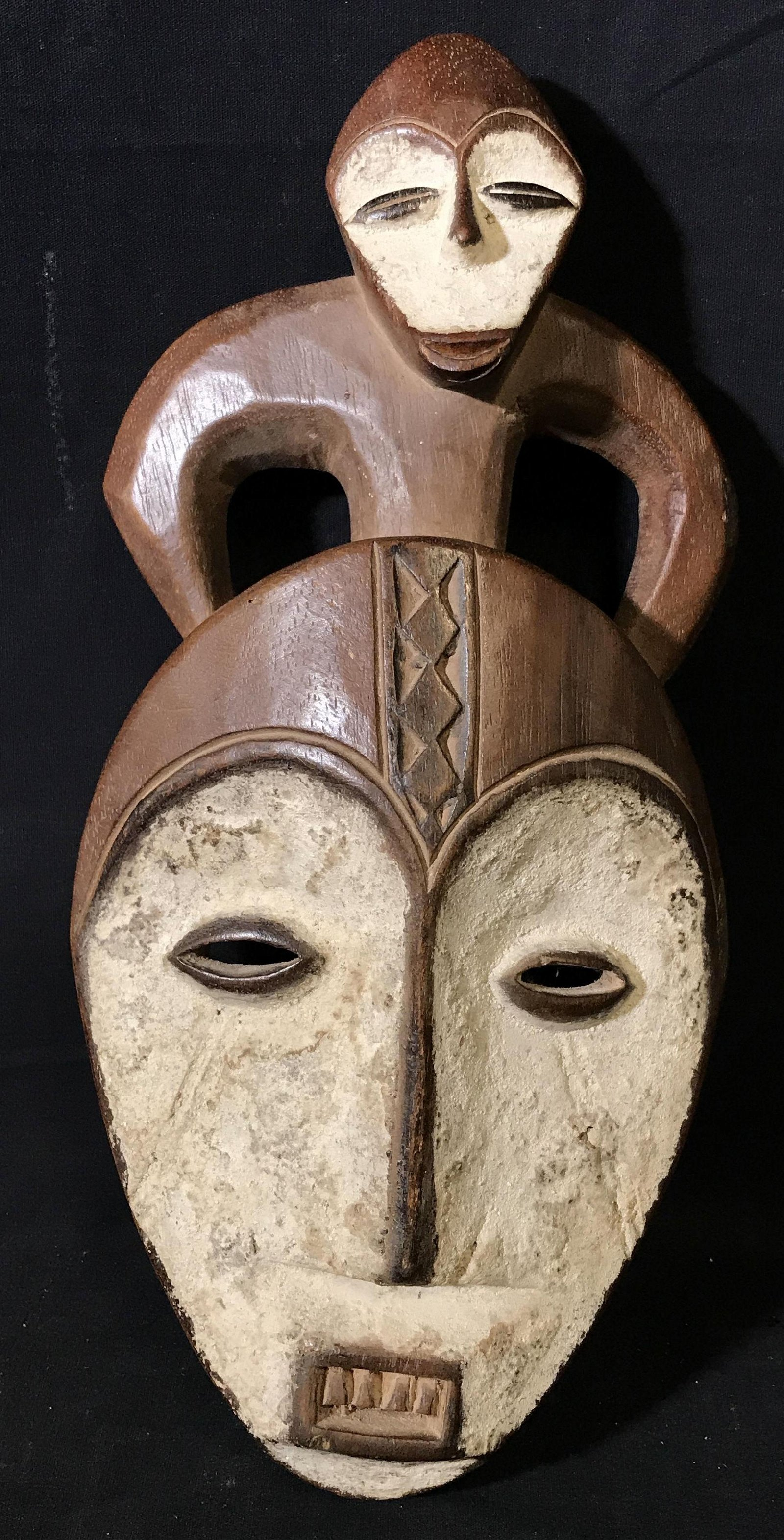 Lega Brown and White Caolain Mask