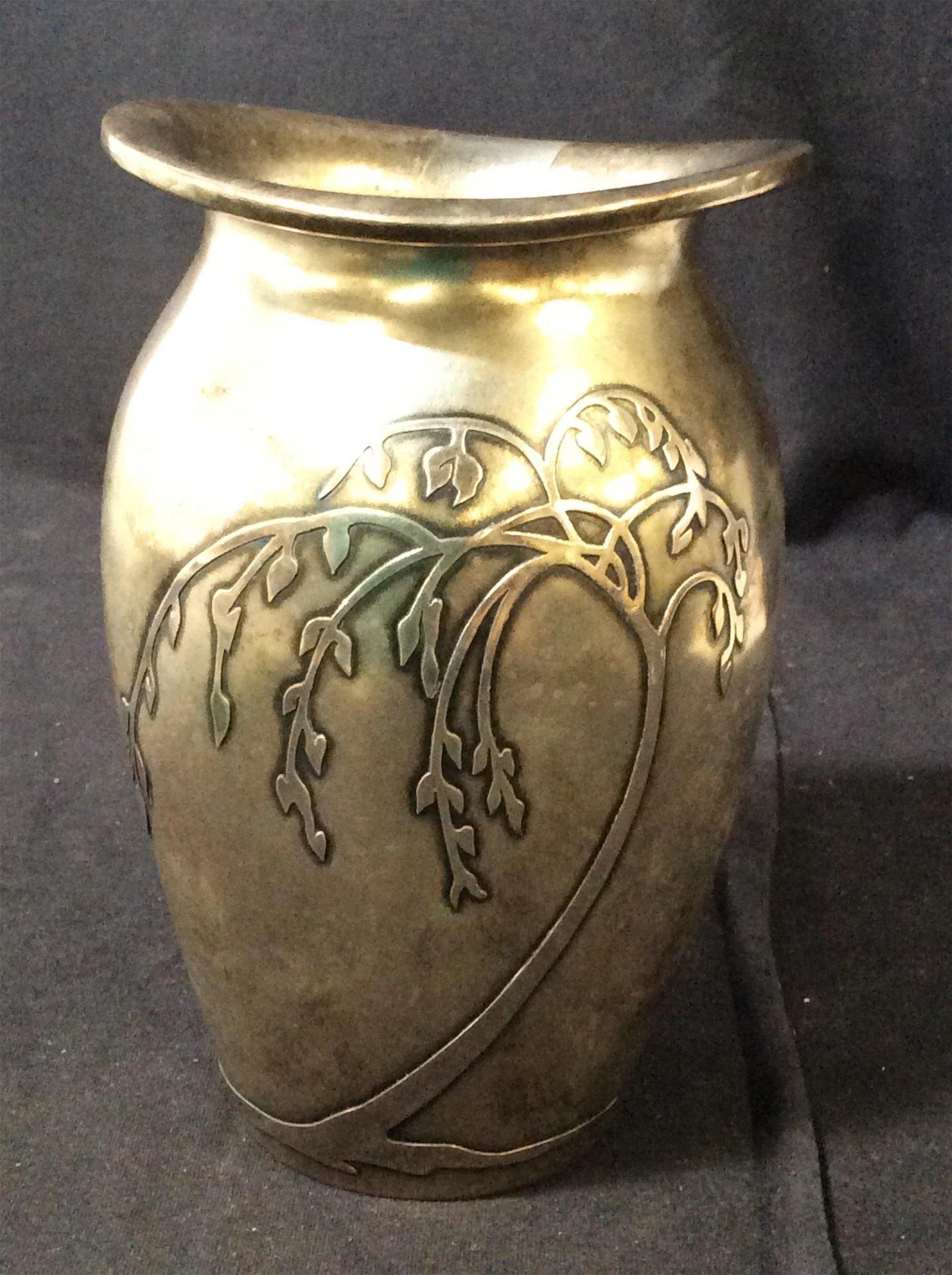 SILVER CREST Sterling Silver Art Nouveau Vase