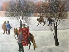 Sergio Agostini Signed Oil on Canvas