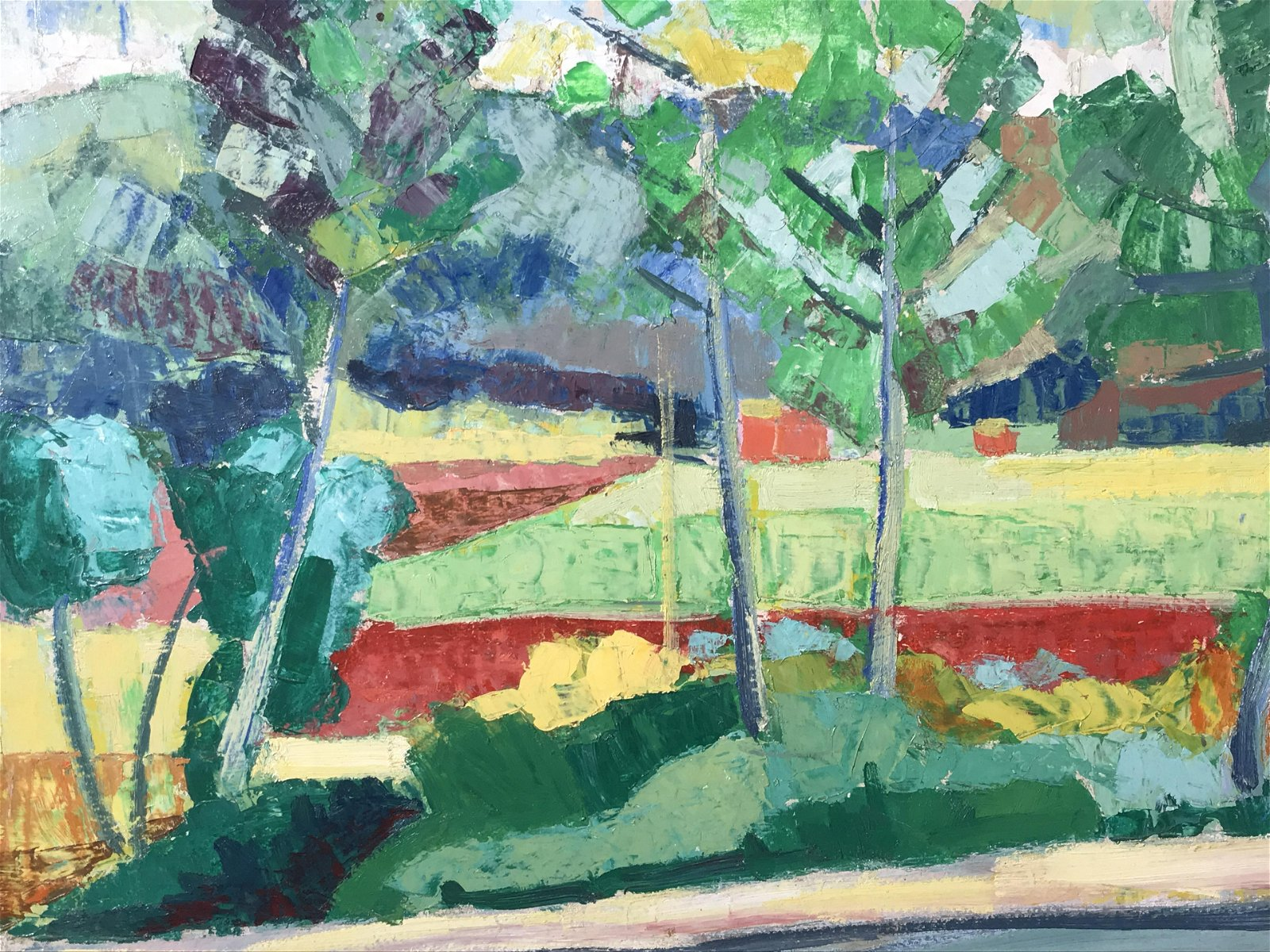 L. Verdonet Signed Oil on Board Landscape