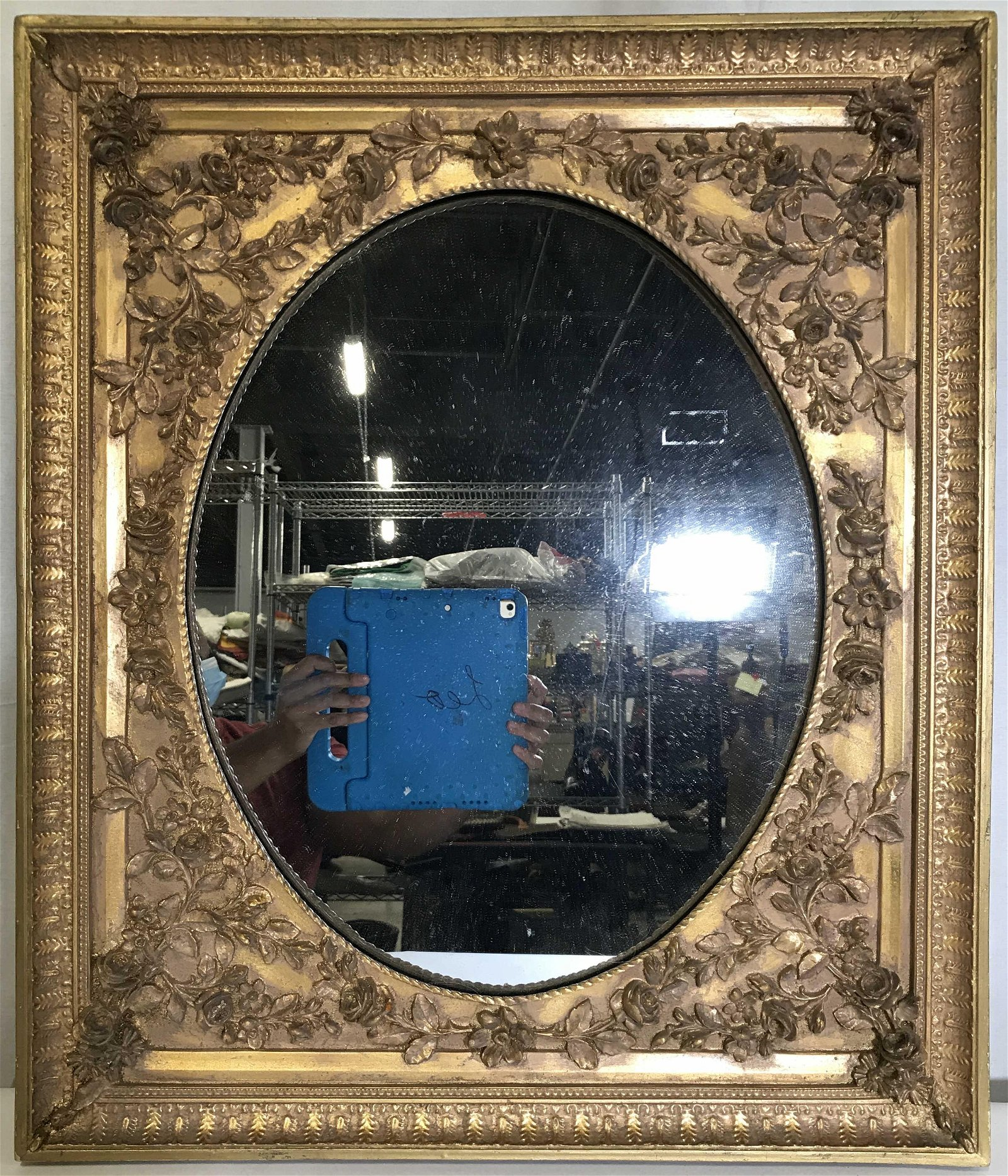 Vintage Gold Toned Gilt Frame Wall Mirror