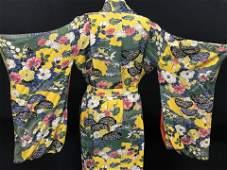 Luxury Vintage Japanese Floral Silk Kimono