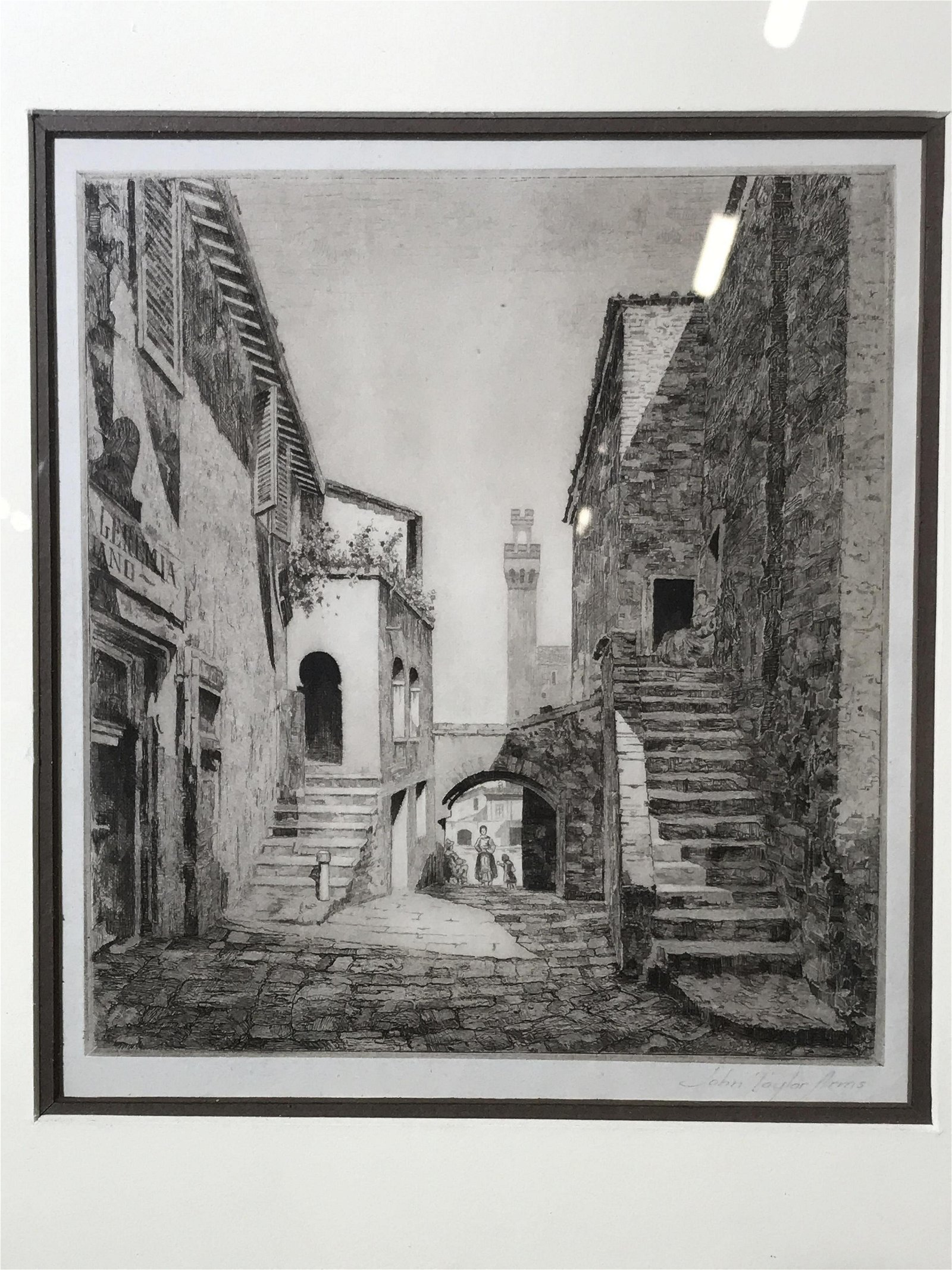 John Taylor Arms Signed Etching