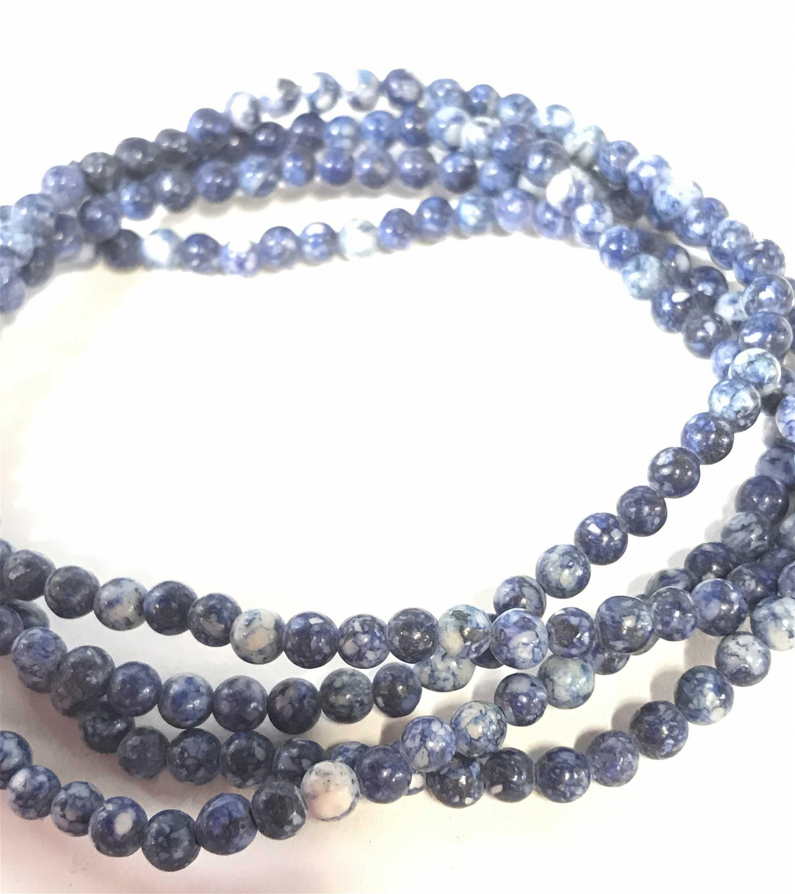 Natural Blue Stone Beaded Necklace